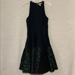 ModCloth Hutch Surprise Arrival Black Green Dress